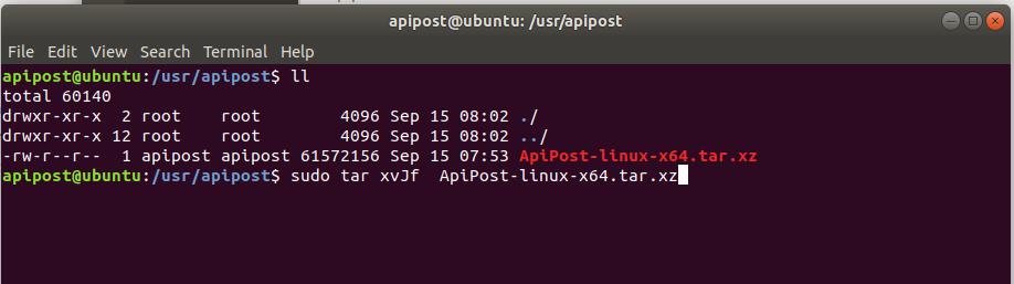Linux版本ApiPost如何安装?
