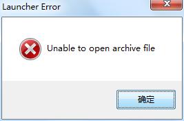 下载后安装失败,显示错误