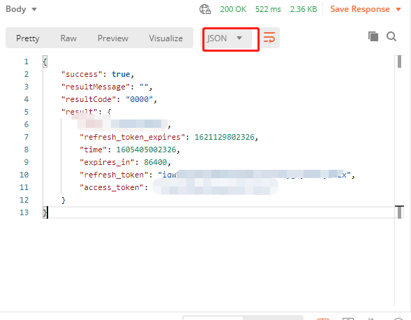 怎么设置ApiPost的返回数据格式,像postman可以选择数据格式的那种