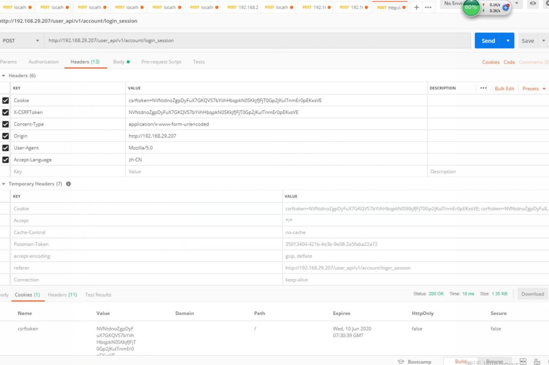 使用apipost发open-edx的登录请求,apipost可以正确返回,但是通过其他工具(如postman或者自己拿程序写)返回有误