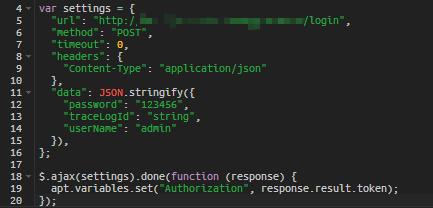 使用默认发送请求的脚本,发送post脚本失败
