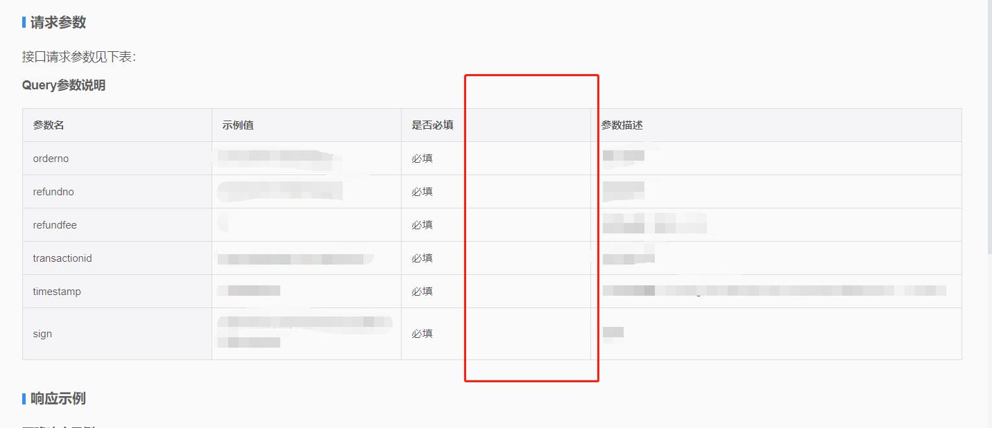 接口参数类型,线上文档中没有做出显示。
